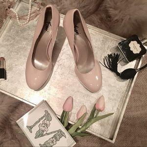 """Fioni"" Light Pink Nude Pump Heels"